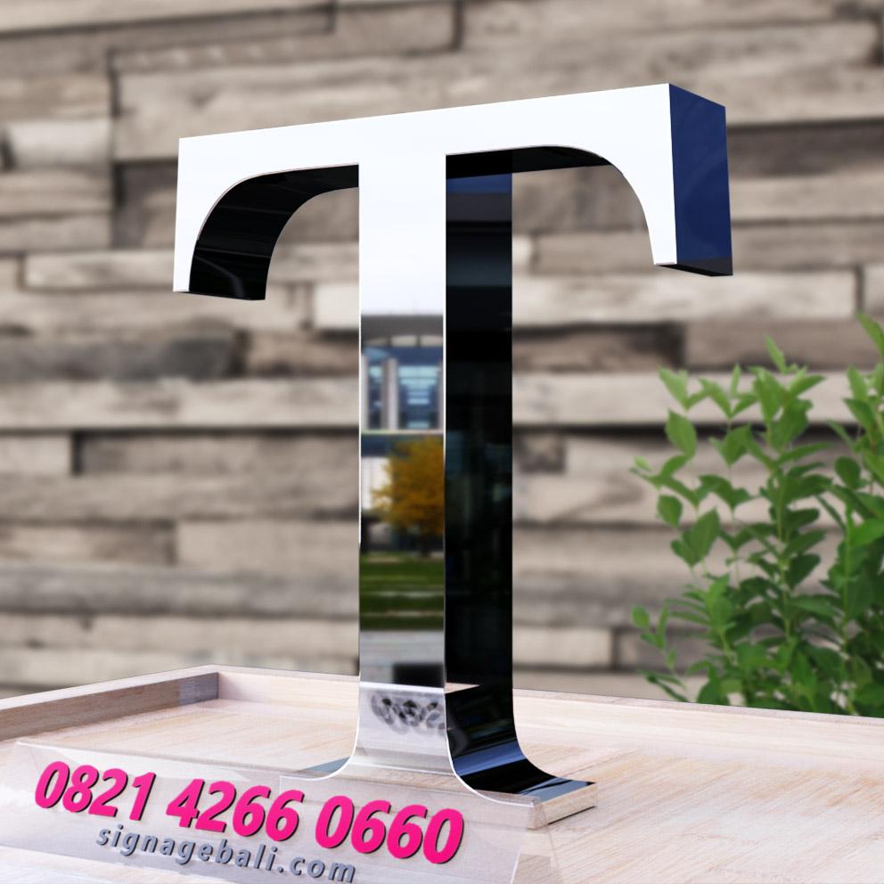 Huruf timbul stainless Steel 2