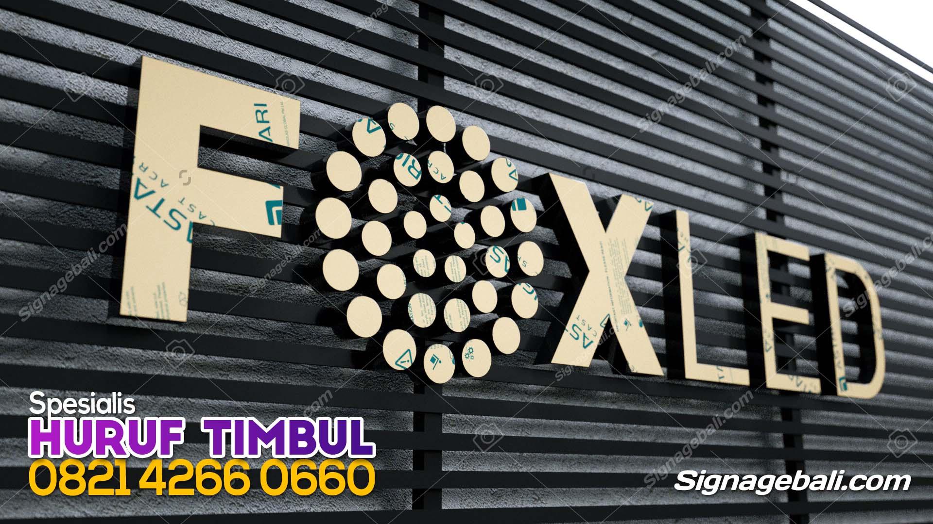 Huruf timbul acrylic FOX LED 2