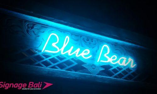 Neon Flate LED Blue Bear 5