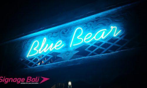 Neon Flate LED Blue Bear 6