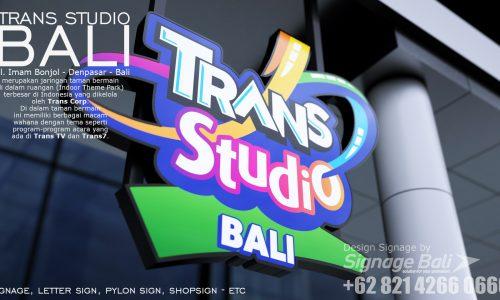 Signage Trans Studio bali 1